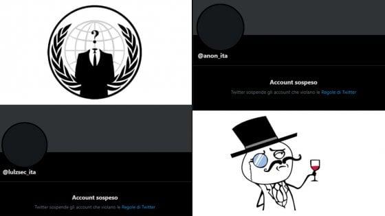 """Twitter blocca gli hacker italiani, LulzSec e Anonymous: """"Censura senza spiegazioni"""""""