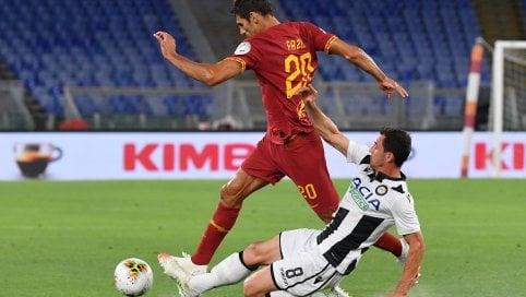 Disfatta Roma, l'Udinese all'Olimpico vince 2-0 L'Atalanta va al massimo, Napoli battuto 2-0