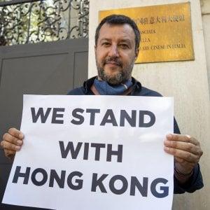 """Honk Kong, l'ambasciata cinese in Italia esprime """"forte disappunto"""" per il flash mob della Lega"""