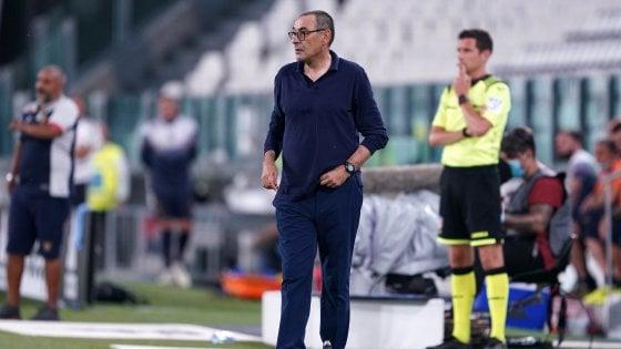 """Juventus, Sarri: """"Con il Toro è una partita particolare. Buffon? Fa cose impensabili"""""""