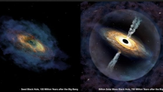 Individuato un enorme buco nero nell'Universo primordiale