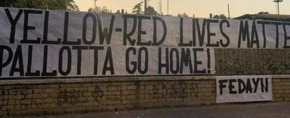 """Roma alla deriva, l'ira dei tifosi: """"Yellow-red lives matter. Pallotta go home!"""""""