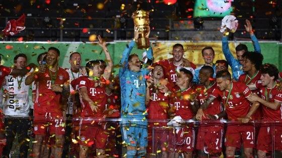 Coppa Germania, il Bayern ne fa quattro al Leverkusen e conquista il double