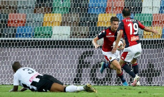Udinese-Genoa 2-2: Pinamonti all'ultimo respiro regala ai rossoblù un pari d'oro
