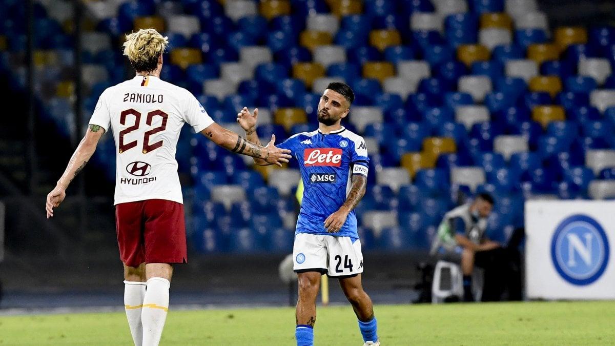 Napoli-Roma 2-1, Insigne completa l'aggancio ai giallorossi
