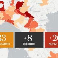 Coronavirus, bollettino del 6 luglio: 208 nuovi contagi e 8 morti