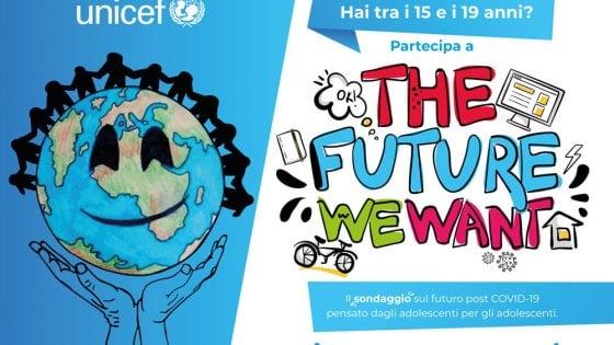 """Adolescenti e post Covid nel sondaggio Unicef: """"Vogliamo un futuro diverso"""""""