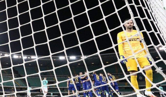 Verona-Inter 2-2, Veloso fa scivolare i nerazzurri al quarto posto