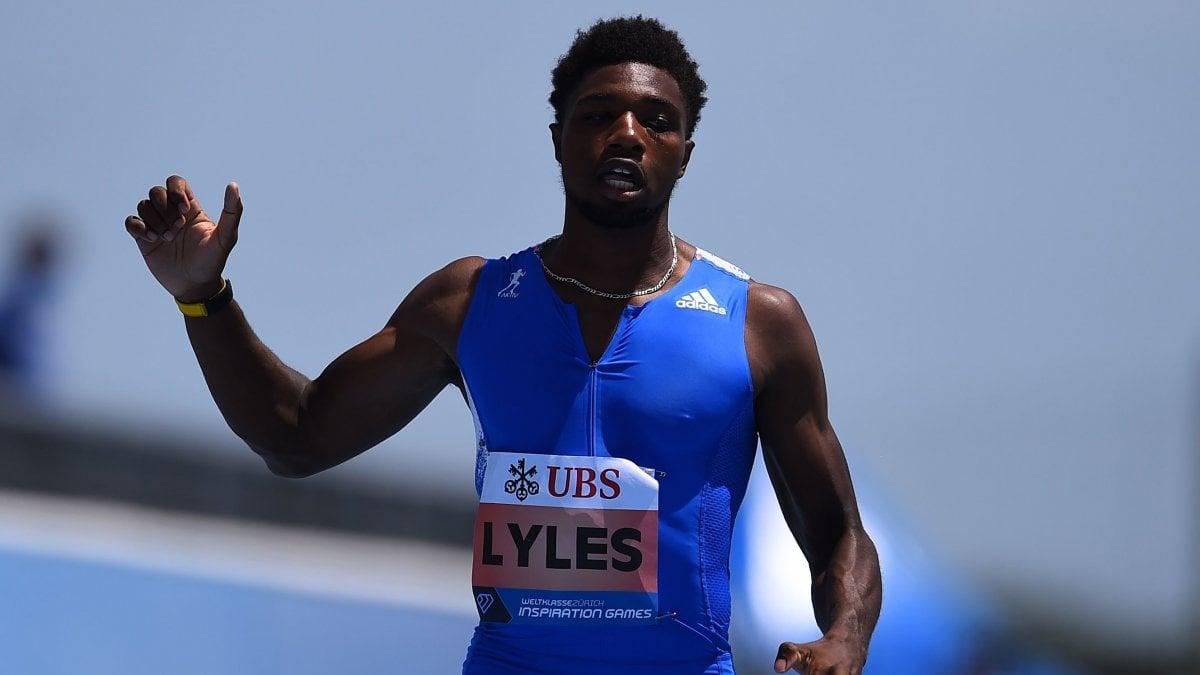 Atletica: Lyles vola più di Bolt sui 200, ma erano 15 metri in meno