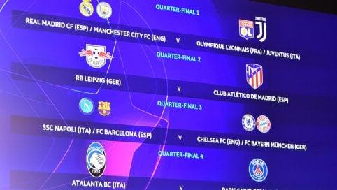 Per la Juve (se passa) Real o Manchester City. Atalanta con il Psg. Il Napoli se si qualifica incontrerà Chelsea o Bayern di NICOLA APICELLA