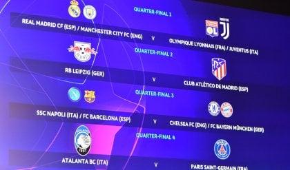 Atalanta-Psg ai quarti. Juve (se passa) contro Real o City, Chelsea o Bayern per il Napoli