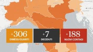 188 nuovi positivi e 7 decessi Grafici e mappe di GEDI VISUAL
