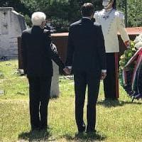 Mattarella, gesto storico a Trieste.  Mano nella mano con il presidente sloveno Pahor...