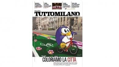 Il pinguino di Pao per  la cover di Tuttomilano