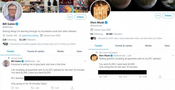 Hackerati gli account Twitter di Jeff Bezos, Bill Gates, Elon Musk e Barack Obama