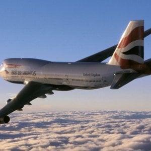 Un 747 della British