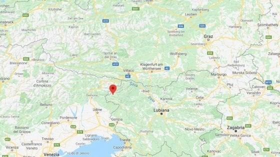 Cartina Del Veneto E Friuli.Terremoto Tra Friuli E Slovenia Scossa Di Magnitudo 4 2 Paura Anche In Veneto La Repubblica