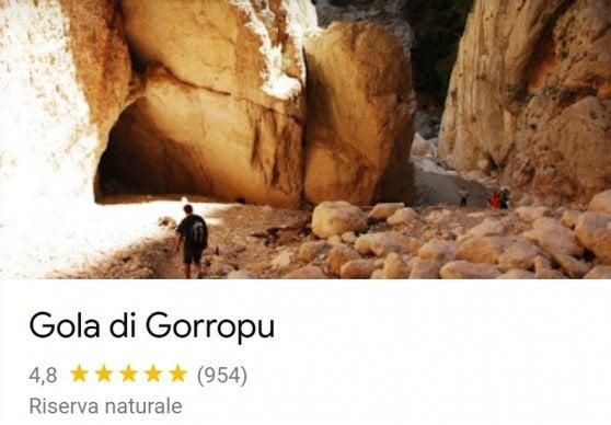 Google corregge le mappe per Supramonte, in Sardegna