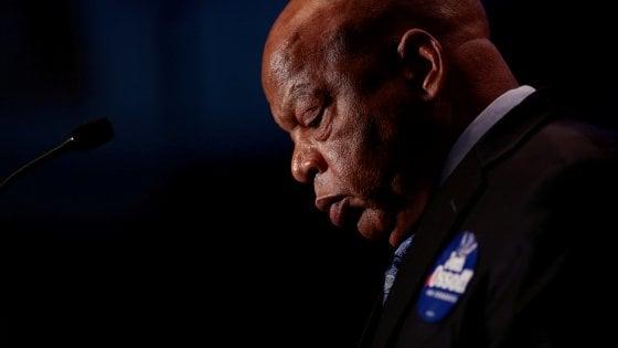 Stati Uniti, morto John Lewis: icona diritti civili, marciò con Luther King