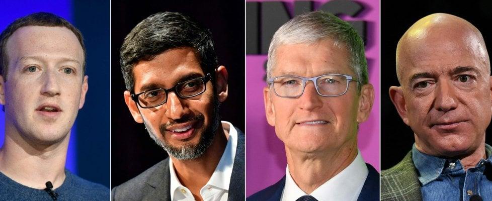 Il Congresso mette sotto accusa i grandi dell'hi-tech: Amazon, Apple, Facebook e Google