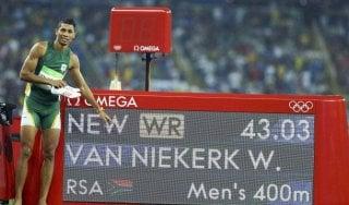 Atletica, Van Niekerk: è mistero sulla positività al Covid