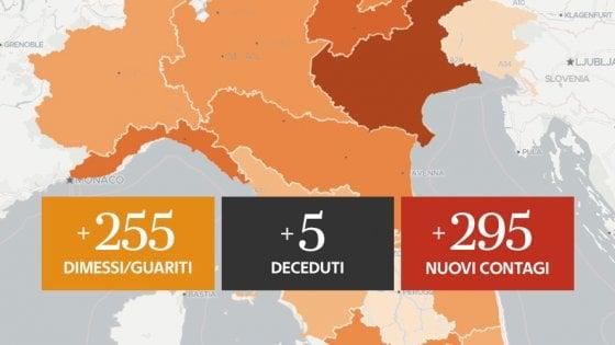 Coronavirus, il bollettino di oggi 1 agosto: 295 nuovi positivi e 5 decessi