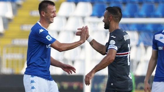 Brescia-Sampdoria 1-1, i lombardi salutano la A con un pareggio