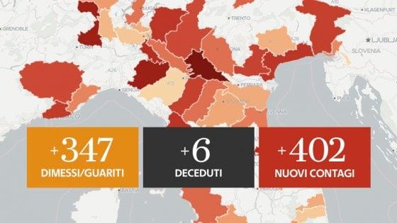 Coronavirus, il bollettino di oggi 6 agosto: 402 nuovi positivi e 6 decessi