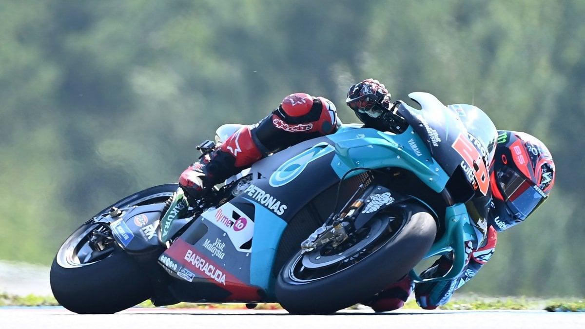 MotoGp, Repubblica Ceca: libere targate Quartararo, Morbidelli 2°. Indietro Rossi e Dovizioso, Bagnaia si rompe una gamba