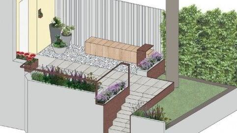Chiedi all'architetto Come progettare un piccolo giardino all'ingresso di casa