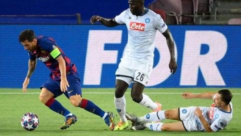 Barcellona-Napoli finisce 3-1Lenglet, Messi e Suarez, poi Insigne su rigore di JACOPO MANFREDIL'Atalanta sarà unica italiana alla fase finale di LisbonaBayern Monaco-Chelsea 4-1Nei quarti Bayern-Barça