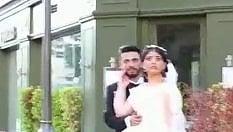 In posa per le foto del matrimonio: la paura negli occhi della sposa