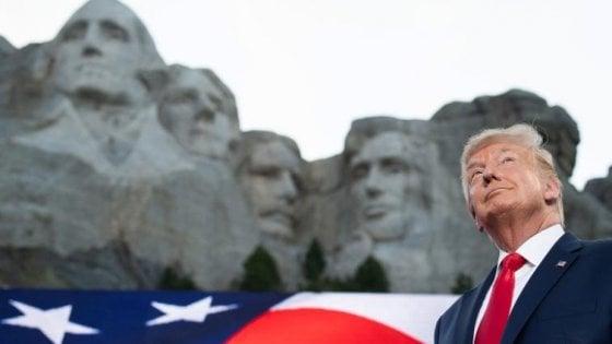 """Usa, la richiesta della Casa Bianca: """"Anche Trump tra i volti del Monte Rushmore"""""""
