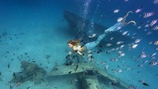 """Claire, una sirena a Parigi: """"Nuotando mi batto per le donne e il mare""""RepTv Il video"""