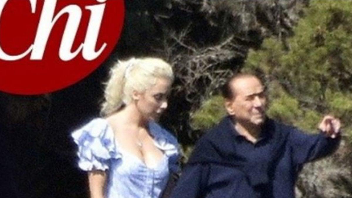 Silvio Berlusconi e Marta Fascina mano nella mano sullo yacht di Ennio Doris