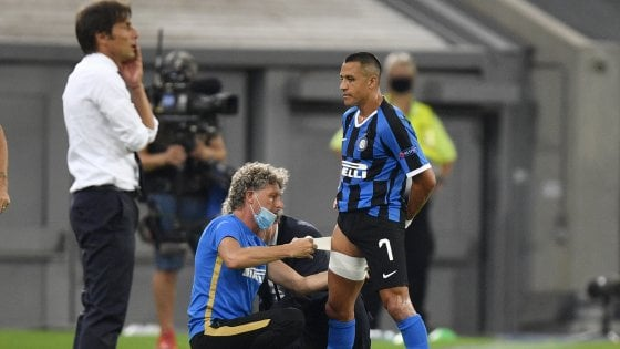 Inter: distrazione muscolare per Sanchez, non ci sarà contro lo Shakhtar