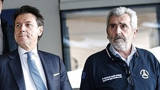 Agostino Miozzo con il presidente del consiglio, Conte