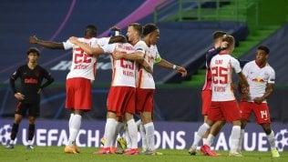 Impresa del Lipsia, vince 2-1 con l'Atletico Madrid e conquista una storica semifinale