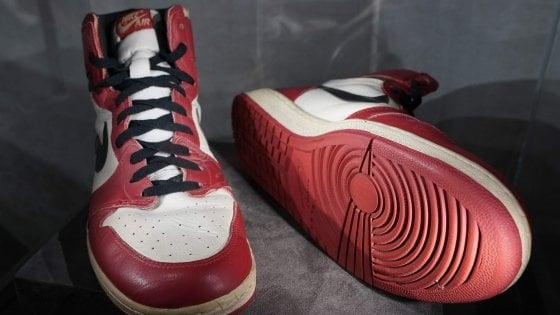 Michael Jordan, le Nike indossate a Trieste battute per 615 mila dollari