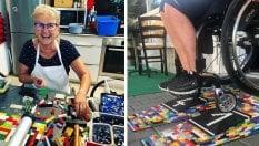 Rita Ebel, la 'nonna Lego' che crea rampe per i disabili con i mattoncini