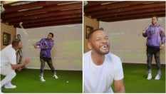 Will Smith gioca a golf con Jason Derulo e si ritrova senza denti