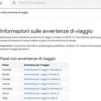 Coronavirus, Google mostra le informazioni per viaggiare informati