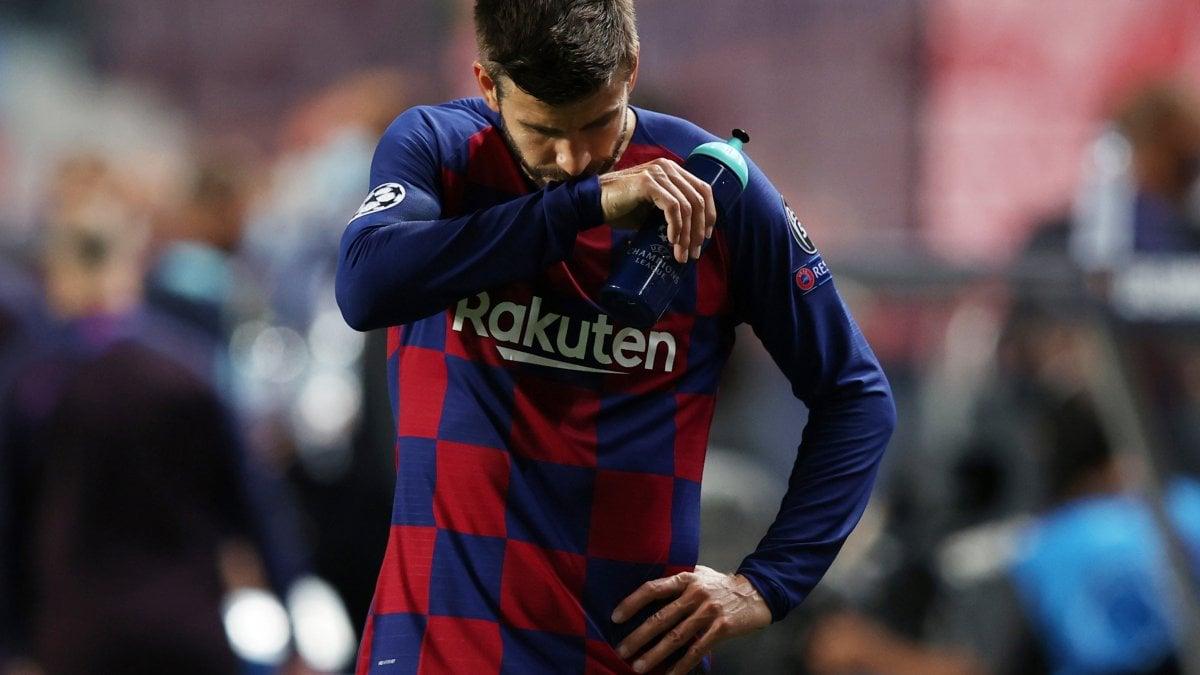 """Barcellona-Bayern, Setien: """"Sconfitta dolorosa"""". Pique: """"Abbiamo toccato il fondo, nessuno è intoccabile"""""""
