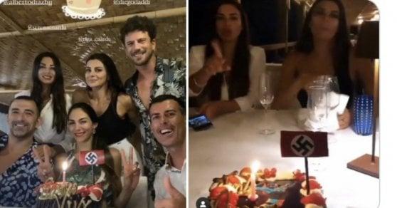 Serena Enardu, il post dell'ex 'Grande Fratello': nel video una festa con la svastica