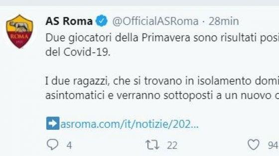 Roma, due giocatori della Primavera positivi al coronavirus: ''Asintomatici e in isolamento''