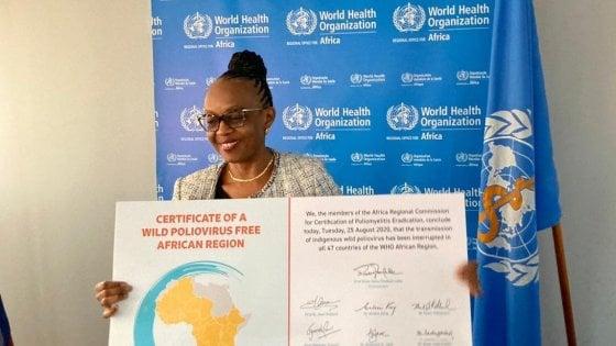 """""""Poliomielite scomparsa dall'Africa"""": storico annuncio dell'Oms"""