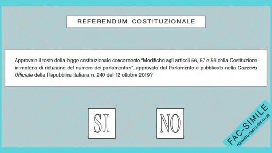 Taglio dei parlamentari, come e quando si vota per il referendum
