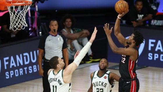"""Basket Nba, playoff: Miami sorprende Milwaukee in gara-1 di semifinale,  Oklahoma costringe Houston alla """"bella"""" - la Repubblica"""