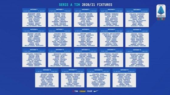 Serie A, calendario 2020 2021: per la Juve subito Samp, Roma e