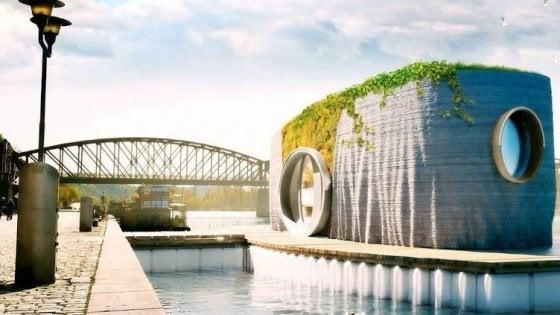 Le case galleggianti stampate in 3D che si costruiscono in 24 ore